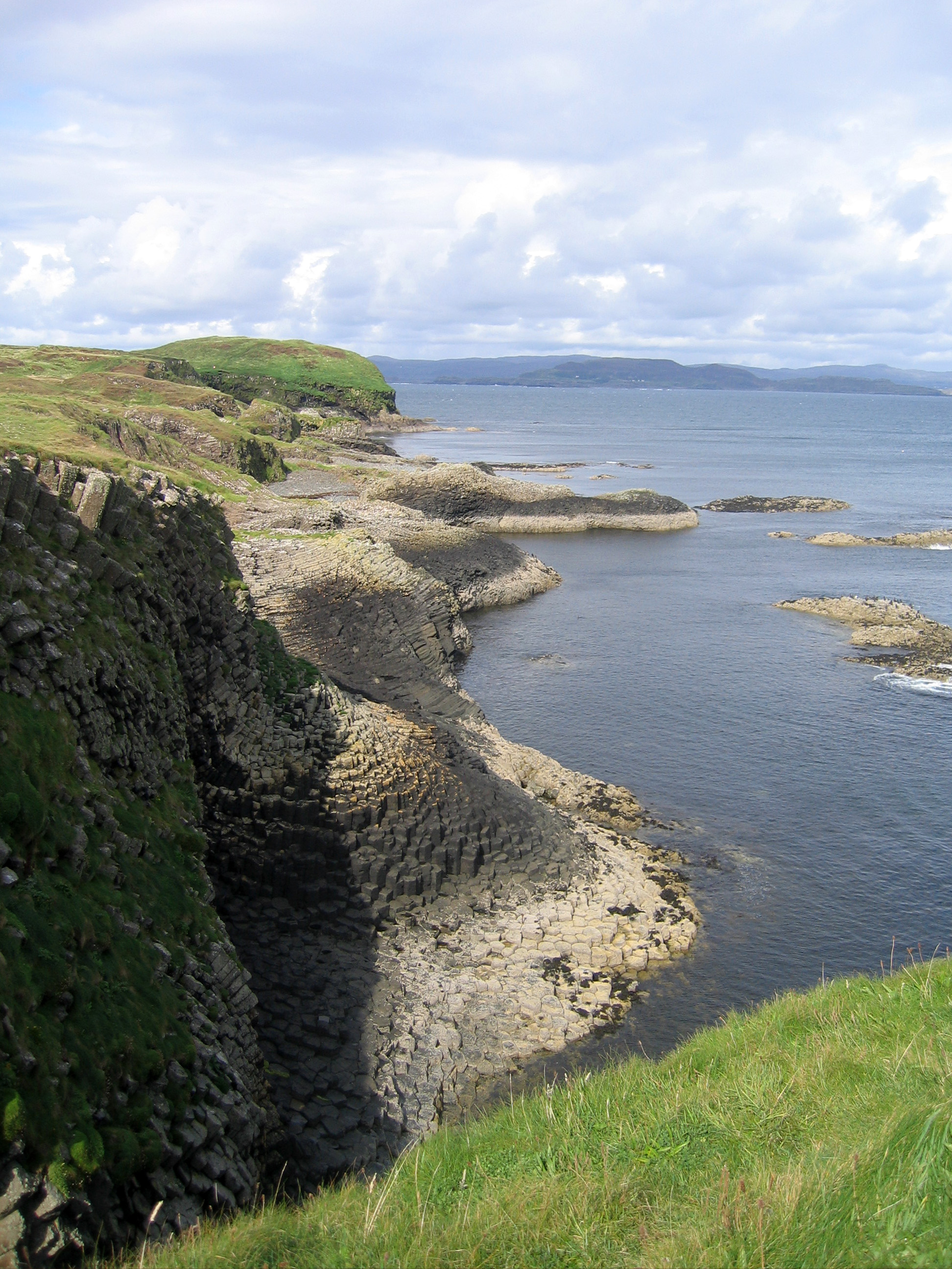 on the top of Staffa