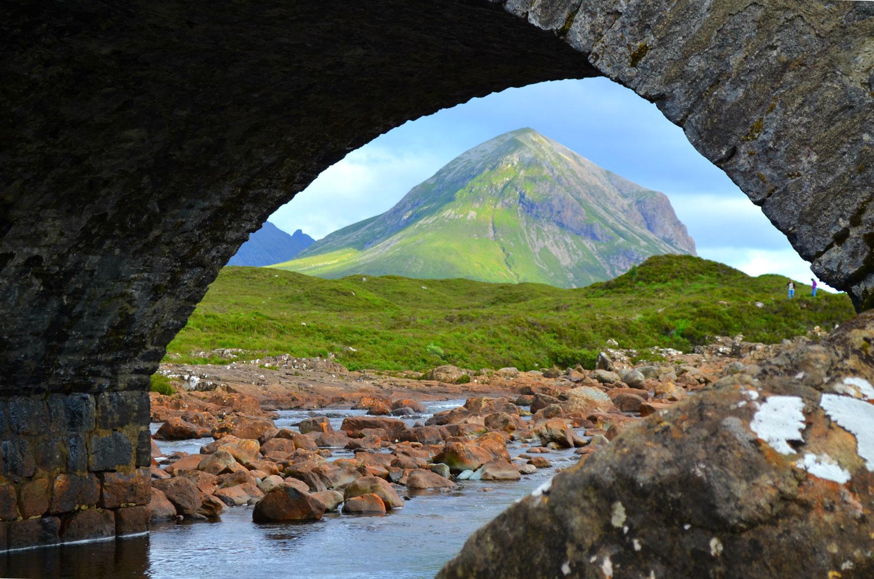 The mountain under the bridge